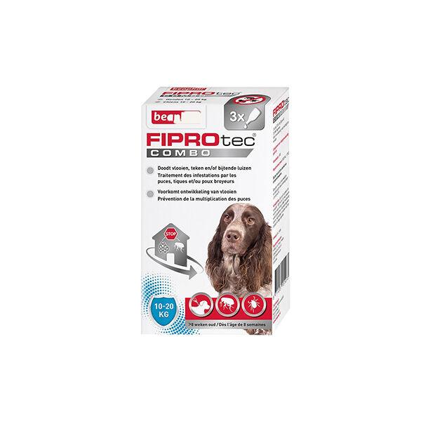 Beaphar Fiprotec Combo Pipettes Puces Tiques et Poux Broyeurs Chien (10-20 kg) 1,34ml x 3 unités