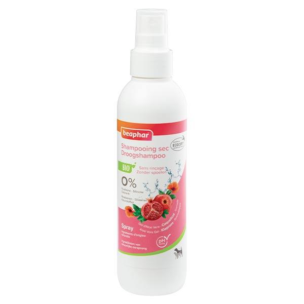 Beaphar Spray Shampooing Sec sans Rinçage Chien et Chat Coquelicot et Grenade Bio 200ml
