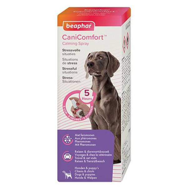 Beaphar Canicomfort Situations de Stress Chiens Chiots Spray Calmant 60ml