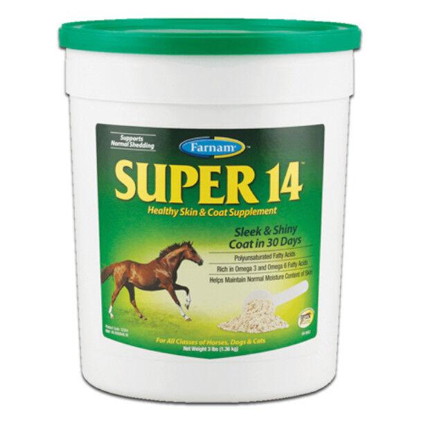 Super 14 Beaute Peau Poil Crin Cheval Poudre Orale 1,3kg