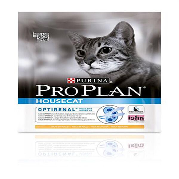 Proplan Chat Adulte Housecat (chat d'interieur) Optirenal Poulet Croquettes 400g