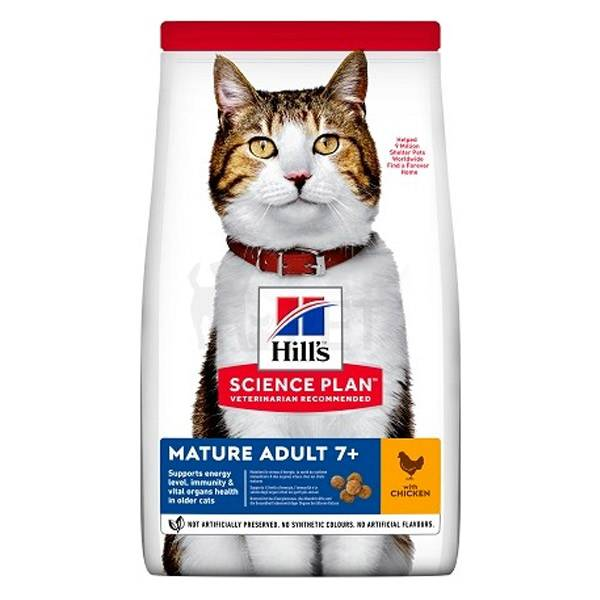 Hill's Sciences Plan Veterinaria Recommended Chat Mature Adult 7+ poulet 1,5kg