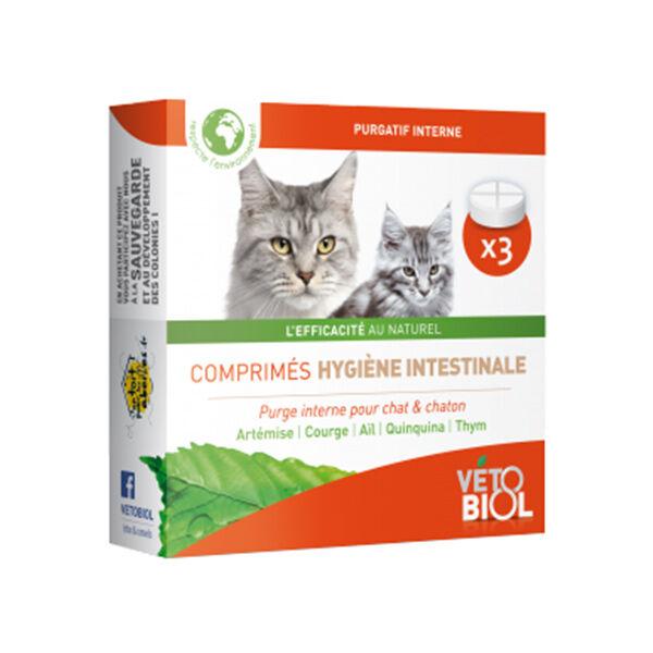 Vetobiol Hygiène Intestinale Chat et Chaton 3 comprimés