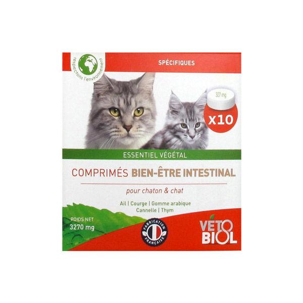 Vetobiol Bio Bien-Etre Intestinal Chatons et Chats 10 comprimés