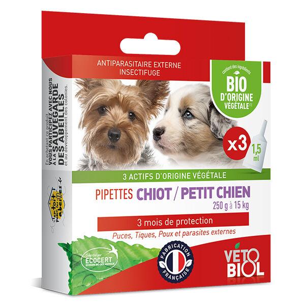 Vetobiol Vétobiol Antiparasitaire Pipette Petit Chien Bio 3 unités