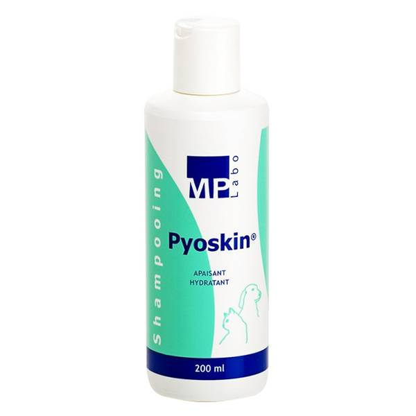 Pyoskin Solution Lavante Moussante Pyodermites Chien Chat Shampoing 200ml