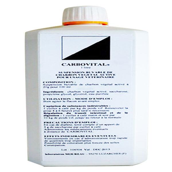 Moureau Carbovital Pansement Intestinal Charbon Vegetal Grands Animaux Solution Buvable 1L