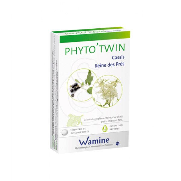 Wamine Phyto'Twin Cassis Reine des Près Complément Alimentaire Articulaire Chien Chat NAC boite de 30 comprimés