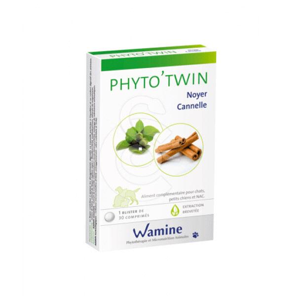 Phyto'Twin Noyer Canelle Complément Alimentaire Digestif Chien Chat NAC 30 comprimés
