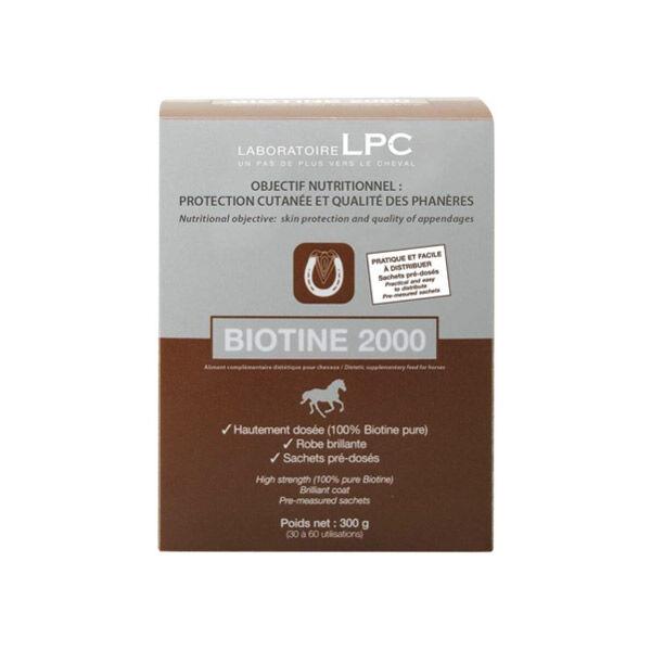 Sanders Biotine 2000 Complément Nutritionnel Sabot Cheval poudre orale sachet de 10g boite de 30