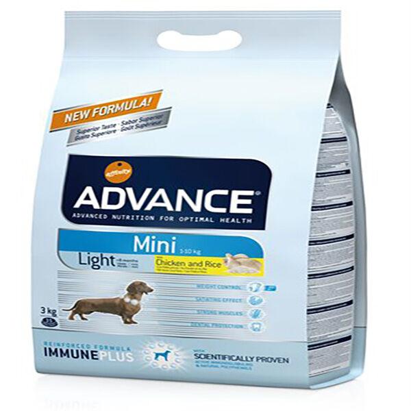 Advance Chien Croquettes Adulte Mini Light 3kg