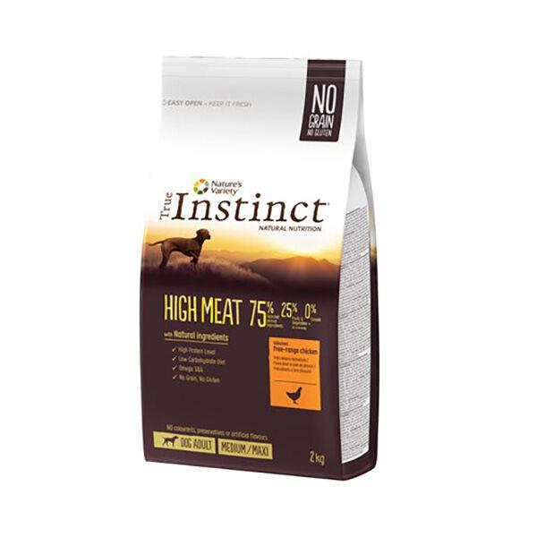 True Instinct Chien Adulte(+12mois) Medium/Maxi(+10kg) High Meat Poulet 2kg