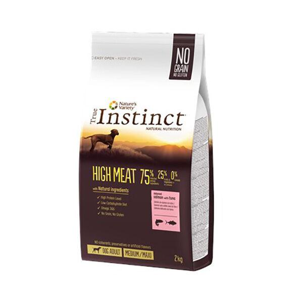 True Instinct Chien High Meat Adulte(+12mois) Medium/Maxi(+10kg) Saumon 2kg