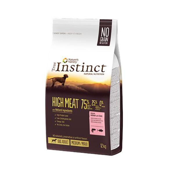 True Instinct Chien Adulte (+12mois) Medium/Maxi(+10kg) High Meat Saumon 12kg