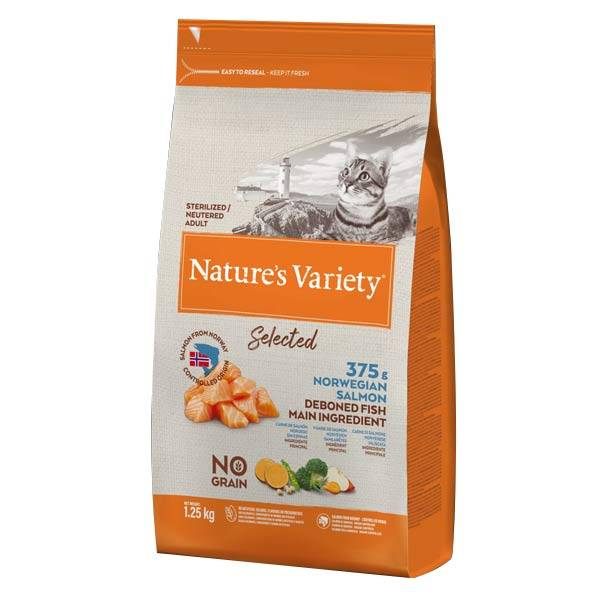 Affinity Petcare Nature's Variety Selected No Grain Chat Adulte Saumon 1,25kg