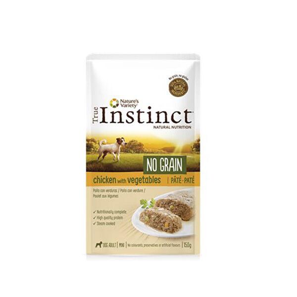 True Instinct Chien Adulte (+12mois) Mini (-10kg) No Grain Poulet Pâtée 150g