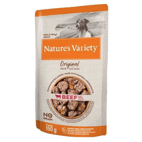 Nature's Variety Original Chien Aliment Humide Petites Races Boeuf 150g