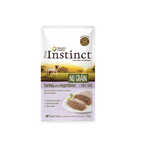 True Instinct Chien Adulte (+12mois) Mini (-10kg) No grain Dinde Pâtée 150g