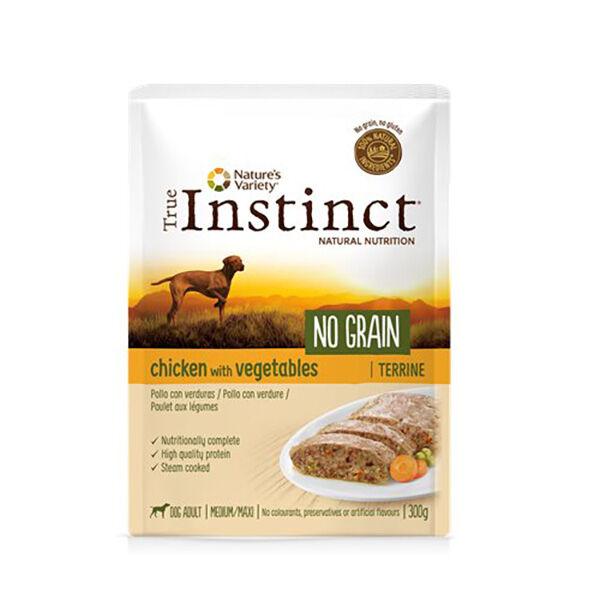 True Instinct Chien Adulte (+12mois) Medium/Maxi(+10kg) Poulet Terrine 300g