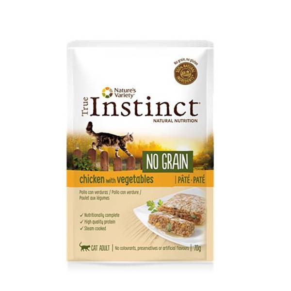 Affinity Petcare True Instinct Chat Adulte (+12mois) No Grain Poulet Pâtée 70g