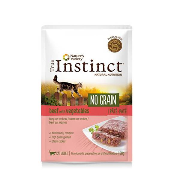 Affinity Petcare True Instinct Chat Adulte (+12mois) No Grain Boeuf Pâtée 70g