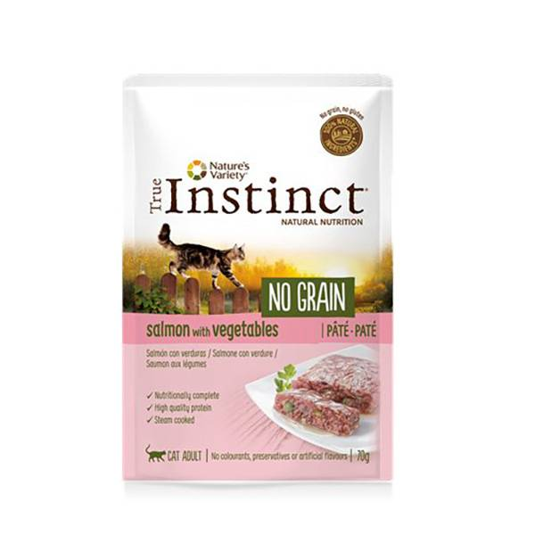 Affinity Petcare True Instinct Chat Adulte (+12mois) No Grain Saumon Pâtée 70g