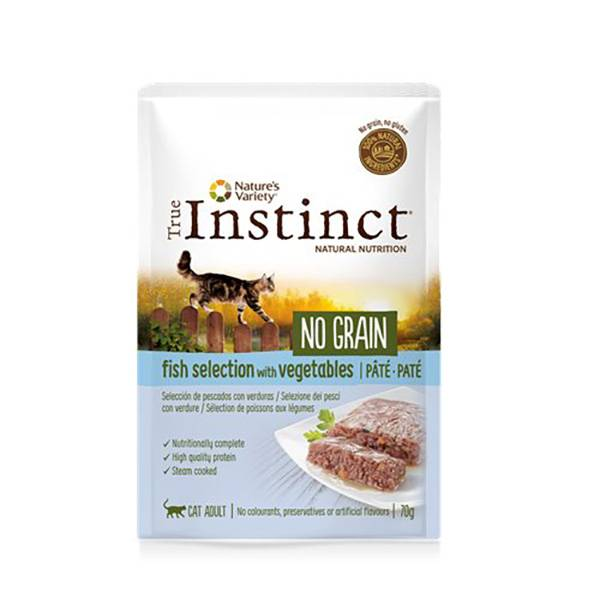 Affinity Petcare True Instinct Chat Adulte (+12mois) No Grain Poisson Pâtée 70g