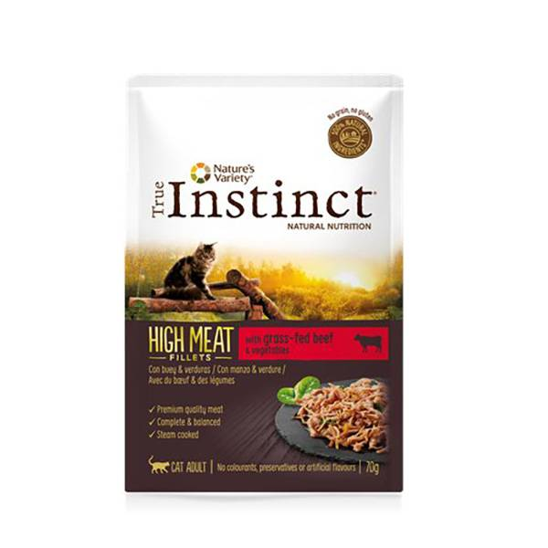Affinity Petcare True Instinct Chat Adulte (+12mois) High Meat Filet de Boeuf 70g