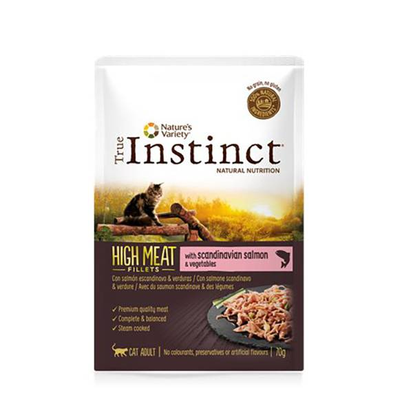 Affinity Petcare True Instinct Chat Adulte (+12mois) High Meat Filet de Saumon 70g