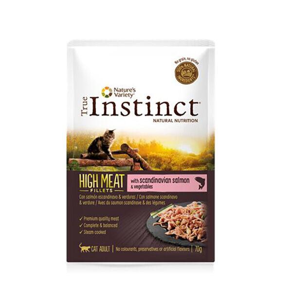 Affinity Petcare True Instinct Chat Adulte (+12mois) High Meat Filet de Saumon 70g