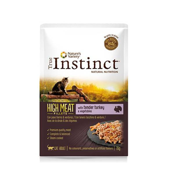 True Instinct Chat Adulte (+12mois) High Meat Filet de Dinde 70g