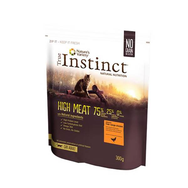 Affinity Petcare True Instinct Chat Adulte High Meat Poulet Croquettes 300g