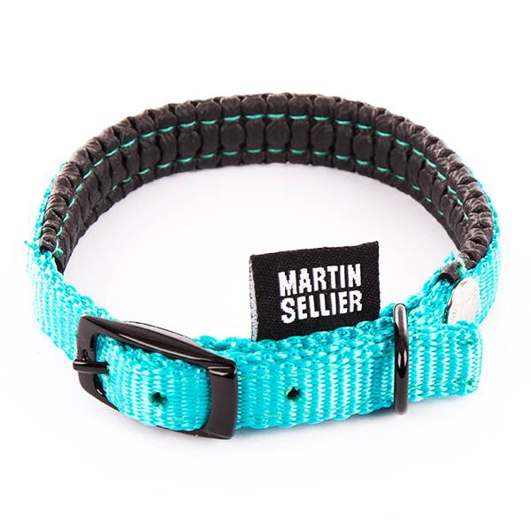 Martin Sellier Collier Droit Confort 10mm x 30cm Turquoise