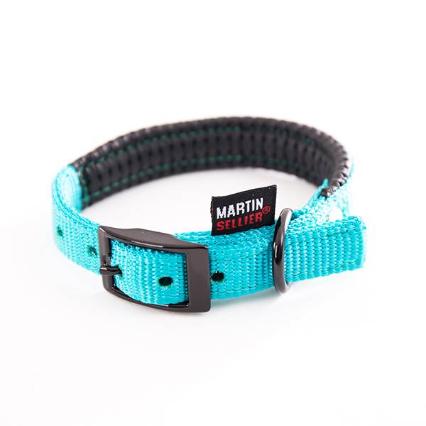Martin Sellier Collier Droit Confort 25mm x 65cm Turquoise
