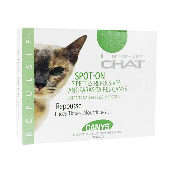 Canys Ligne Chat Spot-On Pipettes Répulsives Antiparasitaires 3 x 0,9ml