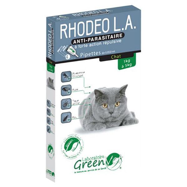 Greenvet Rhodeo L.A. Chat Spot On 4 unités