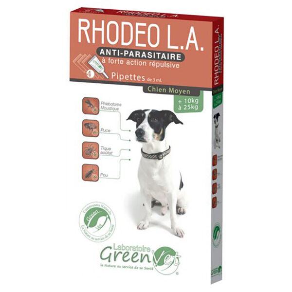 Greenvet Rhodeo L.A. Moyen Chien Spot On 4 unités