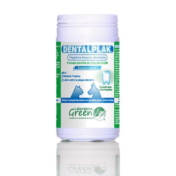Greenvet Dentalplak Hygiene Dentaire Chien Chat Poudre Orale 50g