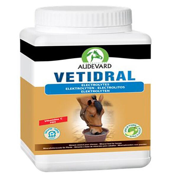 Audevard Vetidral Aliment Minéral Compensation perte d'Electrolytes Cheval Poudre Orale 1,5kg