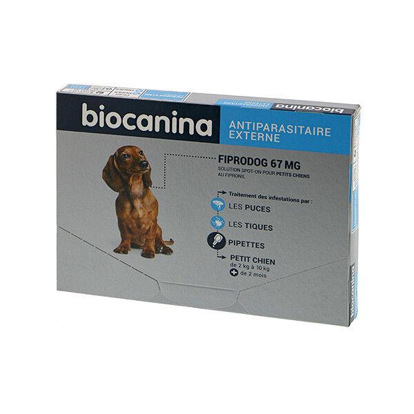 Biocanina Fiprodog 67mg Petit Chien de 2 à 10kg 3 pipettes