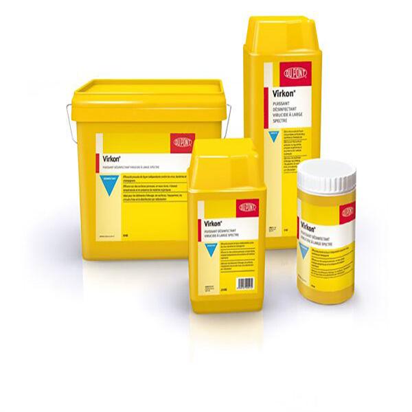 Huvepharma Virkon Poudre Desinfectante Logement Materiel d'Elevage et de Transport 2,5kg