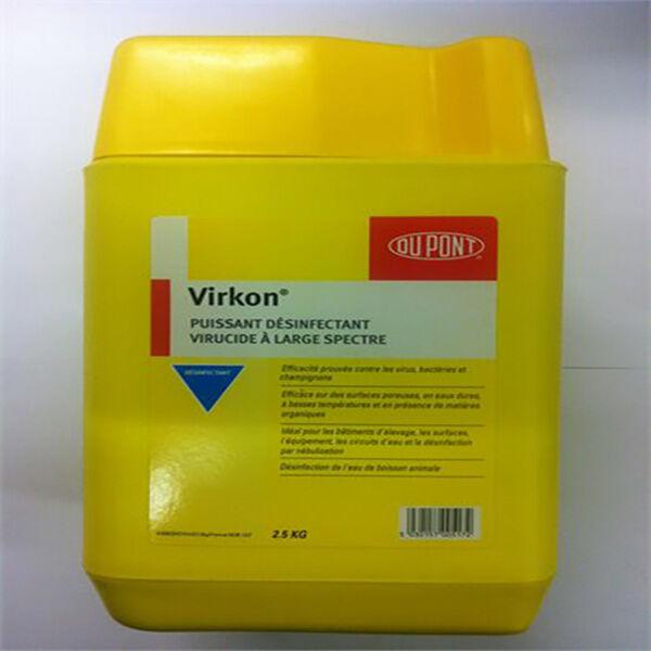 Huvepharma Virkon Poudre Desinfectante Logement Materiel d'Elevage et de Transport 1kg