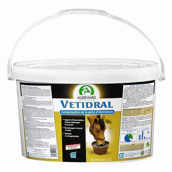 Audevard Vetidral Aliment Minéral Compensation Perte d'Electrolytes Cheval Poudre Orale 5kg