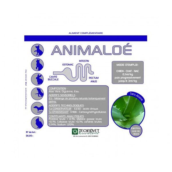 Labbêa Animaloe Aliment Complémentaire Digestif (constipation, Ulcère...) Chien Chat NAC Gel Oral flacon 60ml
