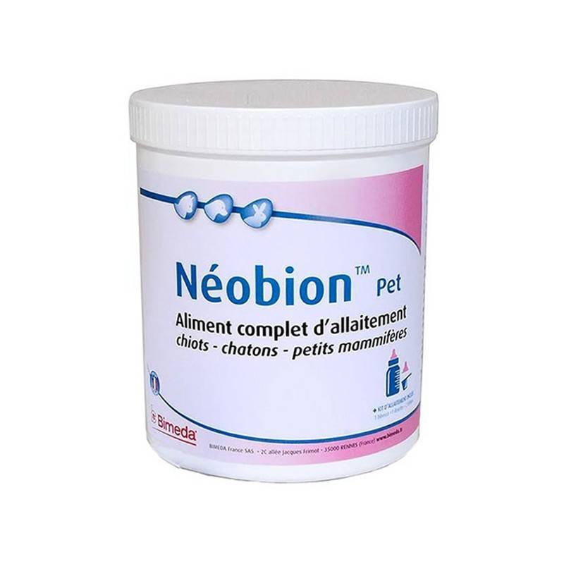 Bimeda Neobion Pet Aliment d'Allaitement Chien Chat NAC Poudre Orale 400g