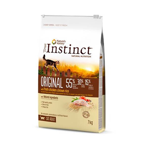 True Instinct Chat Croquettes Original Adulte Poulet 7kg