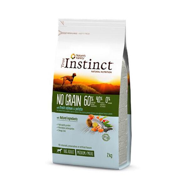 True Instinct Chien Adulte (+12mois) Medium/Maxi No Grain (+10kg) Saumon 2kg