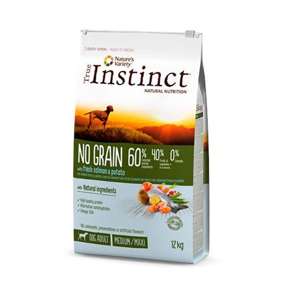 Affinity Petcare True Instinct Chien Croquettes No Grain Adulte Medium Maxi Saumon 12kg