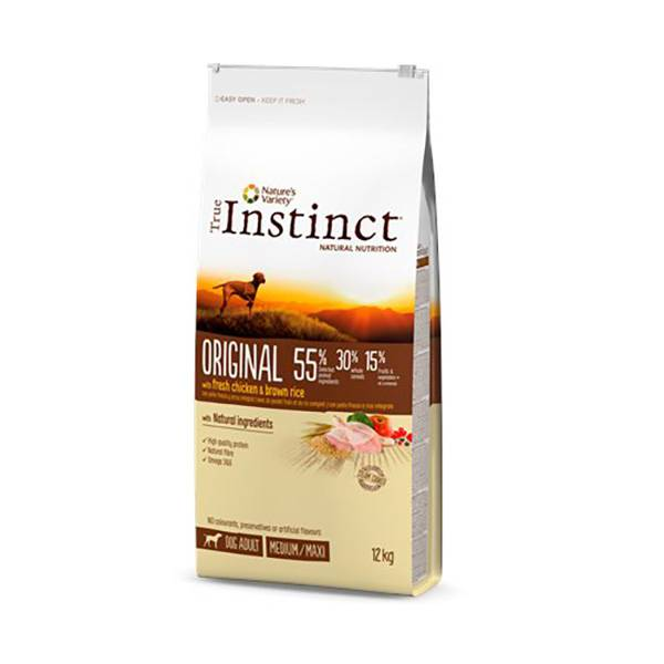 Affinity Petcare True Instinct Chien Croquettes Original Adulte Medium Maxi Poulet 12kg