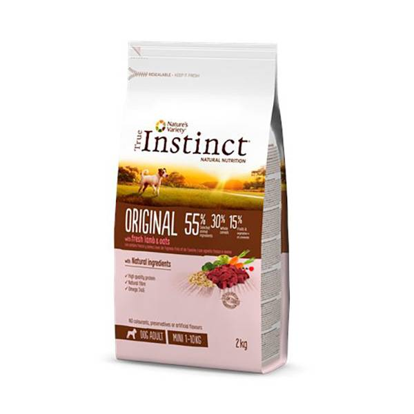 True Instinct Chien Croquettes Original Adulte Mini Agneau 2kg